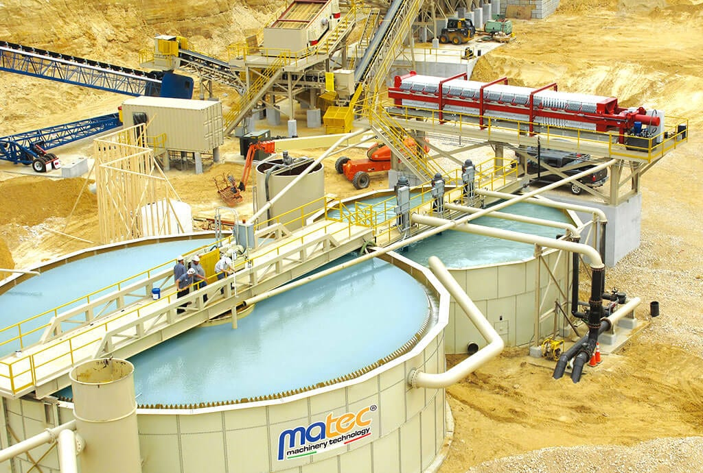 Complete plant, filterpress and paste thickener - Matec Washing System