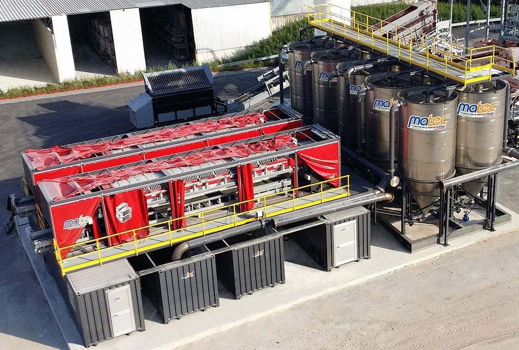 THE CUBE, complete plant for water treatment and silt management - Matec Washing System