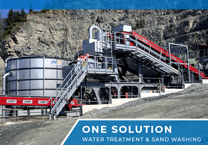 Sand Washing & Water Treatment, ONE SOLUTION - Matec Washing System